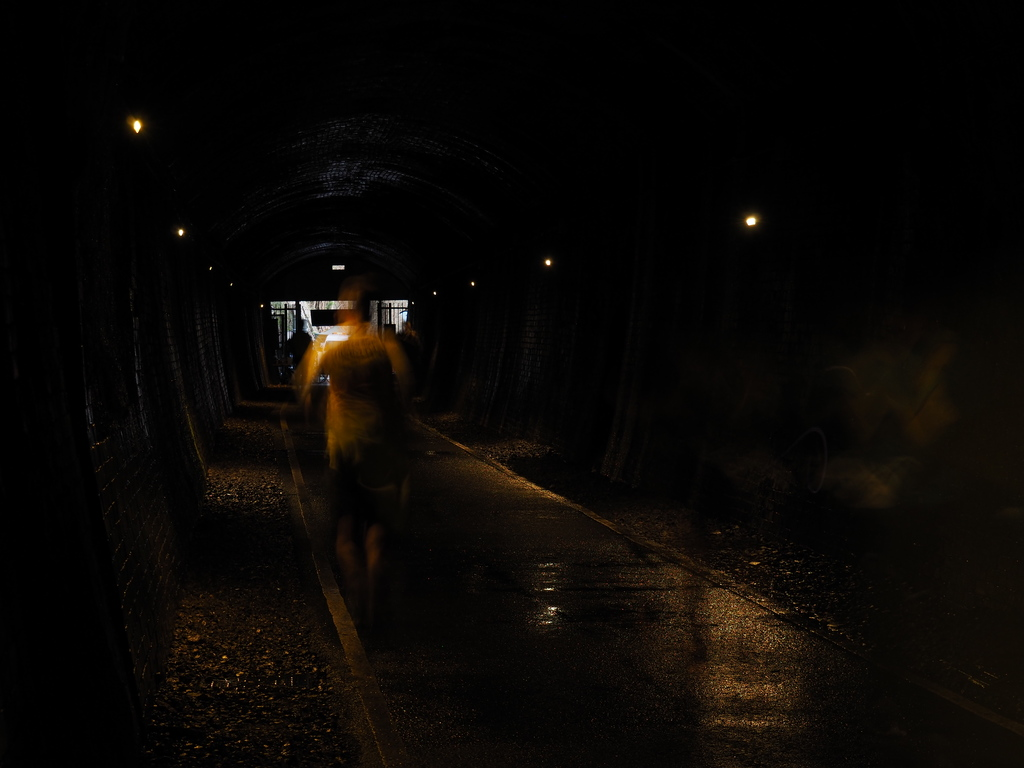 P3060027 ultra runner in the tunnel ultra marathon
