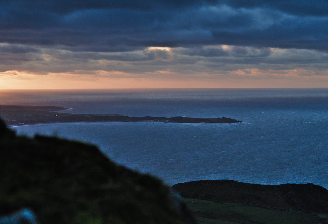 Sunset of Porthdinllaen and a Rough Sea