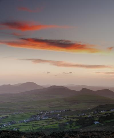 Llithfaen and the Llyn Peninsula at Sunset