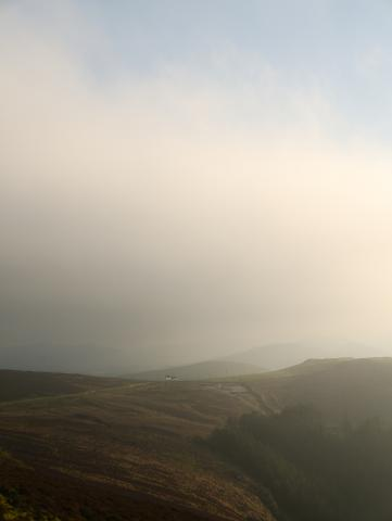 Lonely Cottage In In Clouds Above Nant Gwrtheyrn