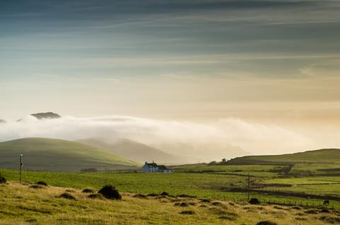 Sea Fog and Inversion Over the Llyn Peninsula, North Wales